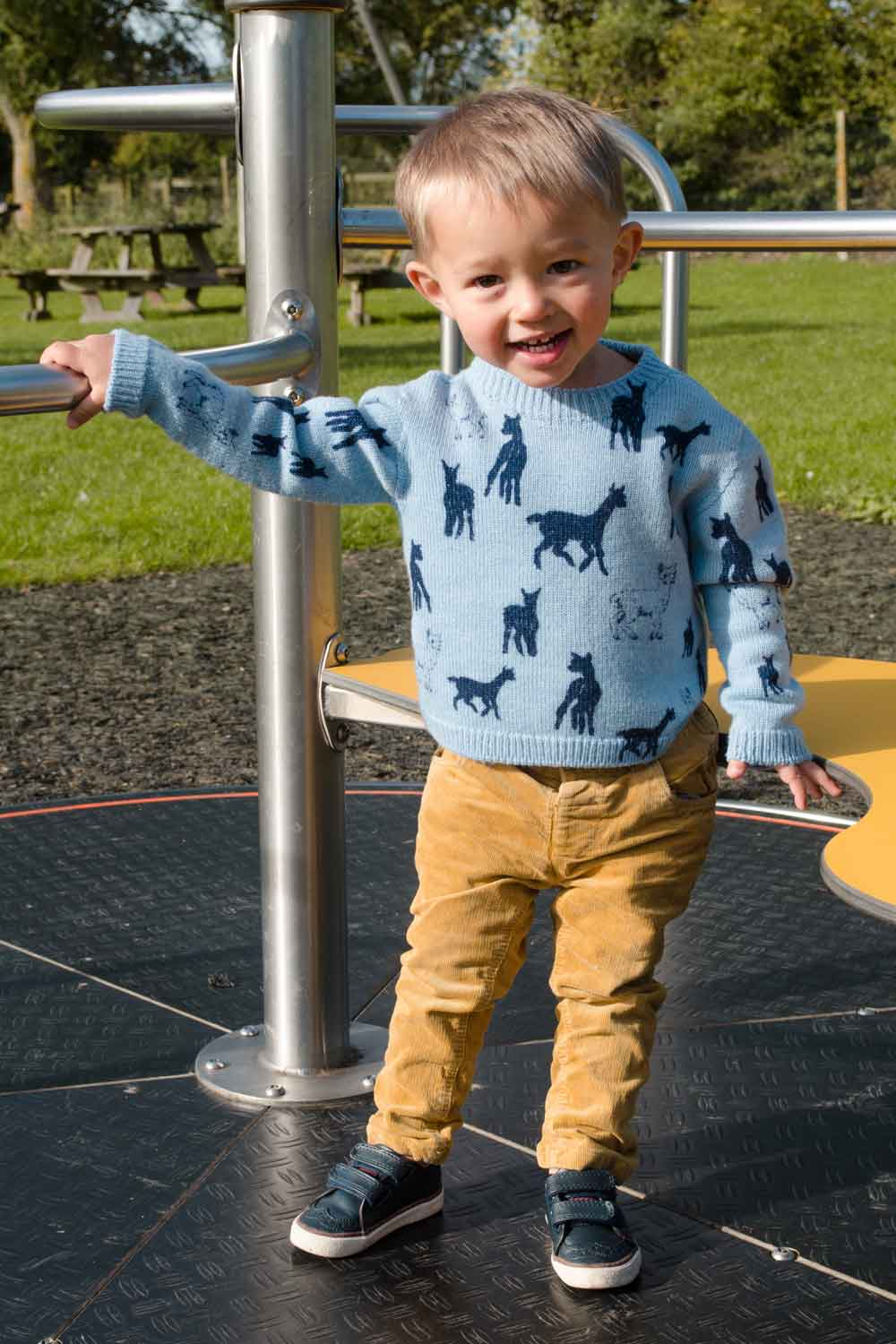 Merino Animal Print Kids Jumper