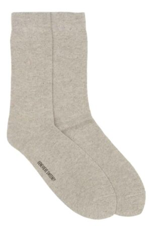 Wool Linen Mens Natural Socks made in Britain