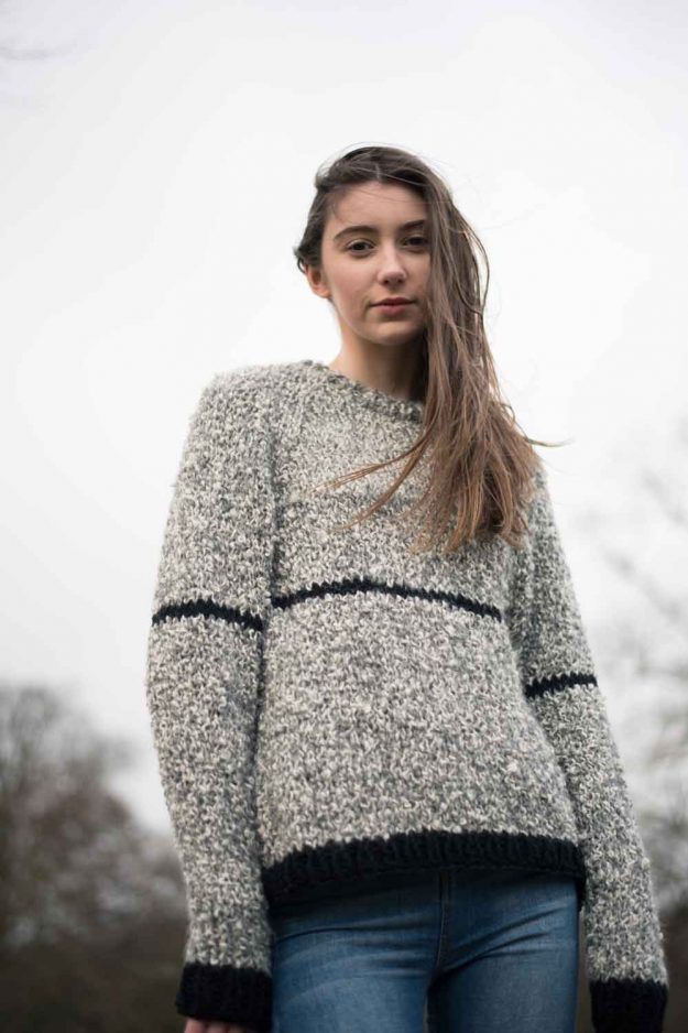 Hand knitted alpaca eco wool jumper