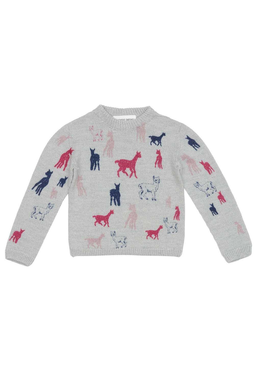 Kids pink alpaca merino sweater