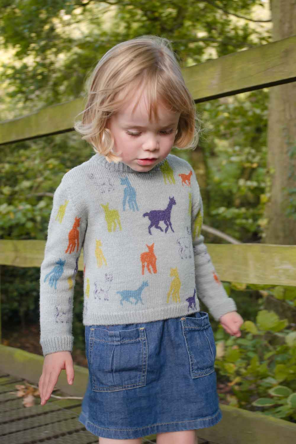 Merino Kids Jumper with Rainbow Motif