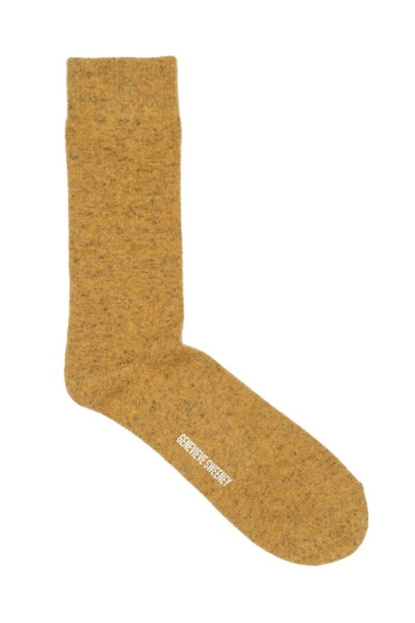 Mens Wool Yellow Socks
