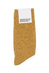 Yellow Wool Linen Mens Socks