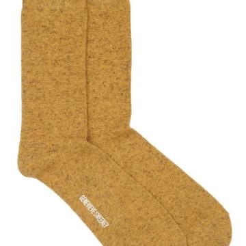 Wool Mustard Yellow Socks Made in Britain