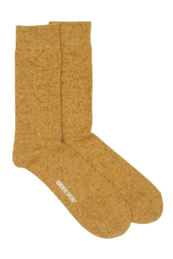 Wool Mustard Yellow Socks Made in Britain
