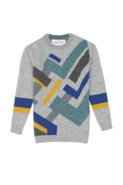 Kids Intarsia Lambswool Jumper made in Britain