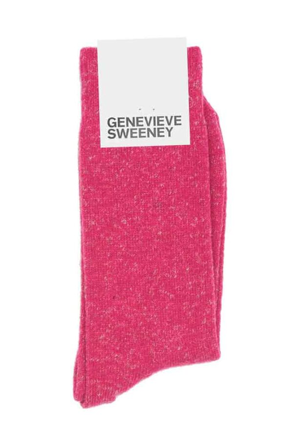 Cosy Wool Hot Pink Socks Made in Britain