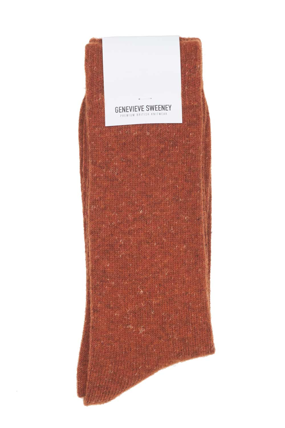 Wooly mens socks made in Britain Orange