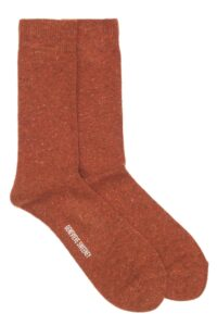 Mens Wool Orange Socks Made in Britain