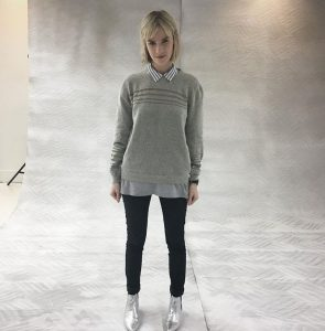 Zoe Cornwell wearing the GS Kelso Alpaca Jumper