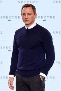style inspiration james bond crew neck jumper