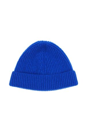 Kids Lambswool Bright Blue Beanie