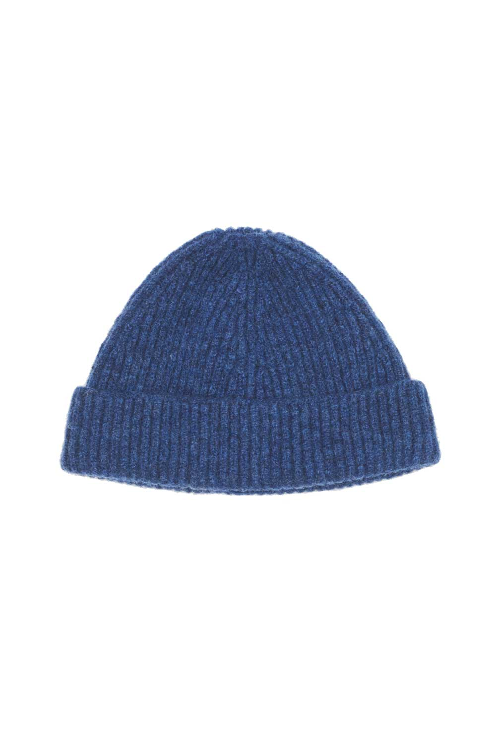 Kids Deep Blue Lambswool Beanie
