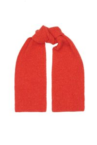 Bright Orange Lambswool Scarf