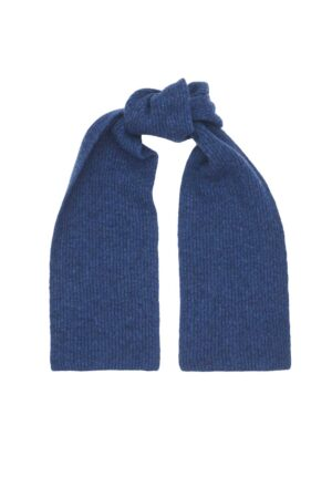 Deep Blue Kids Lambswool Scarf