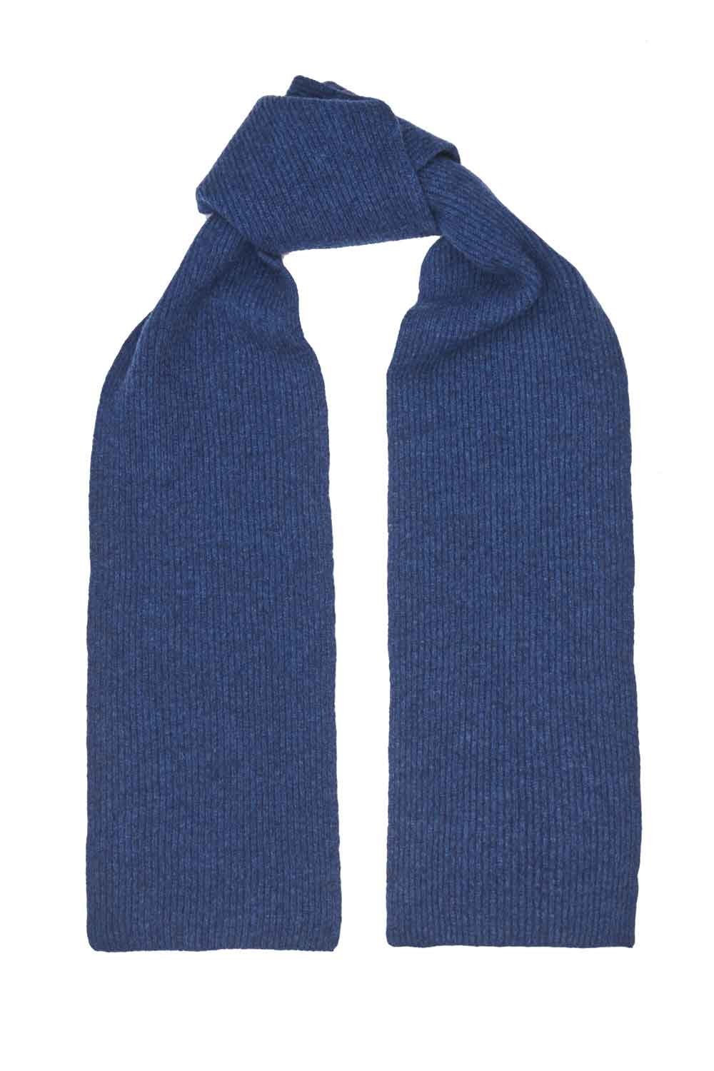 lambswool blue unisex scarf