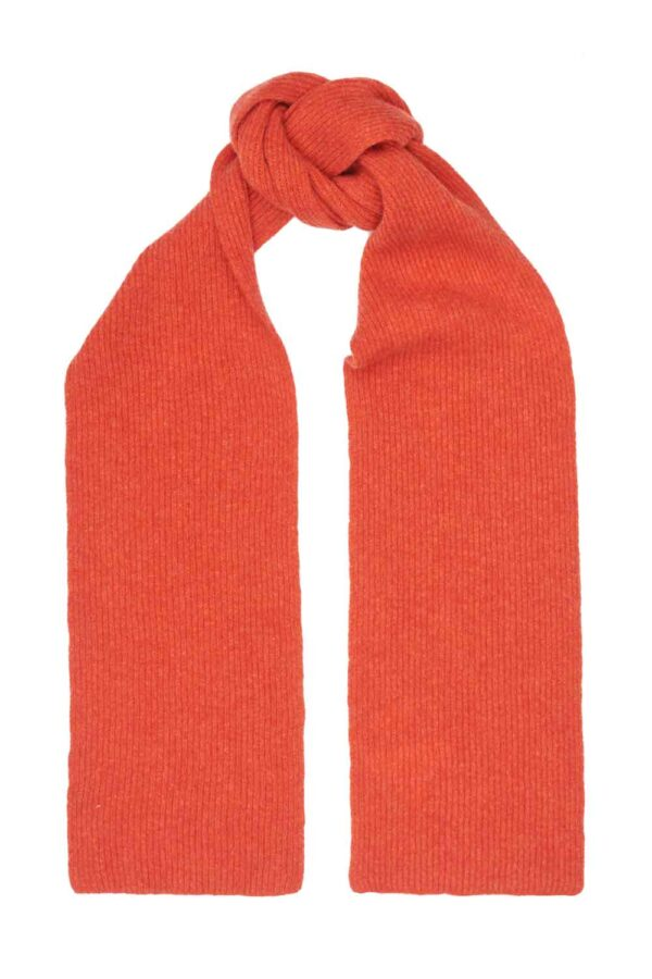 Cosy wool orange scarf