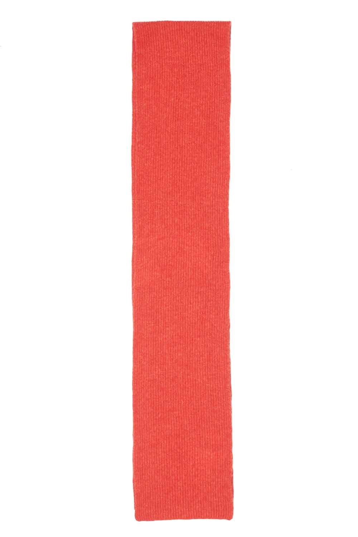Cosy wool orange long unisex scarf