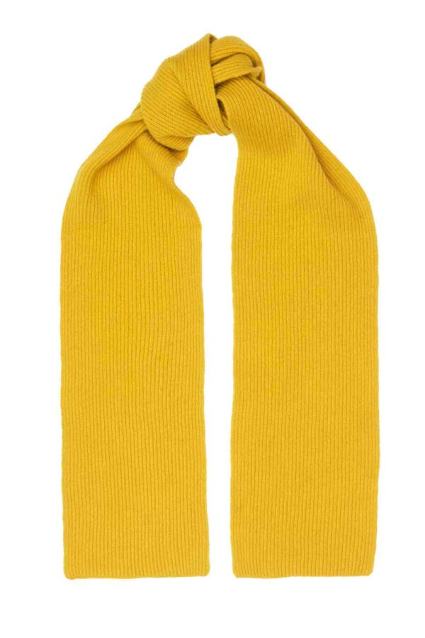 mustard yellow lambswool scarf