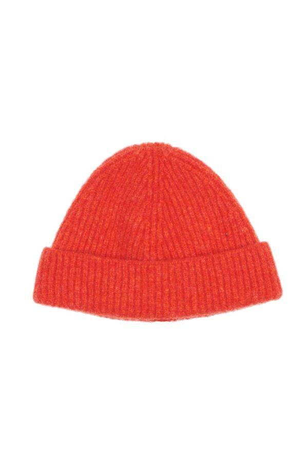 Kids Orange Lambswool Beanie