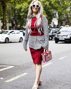 LFW Street Style Spring Knitwear