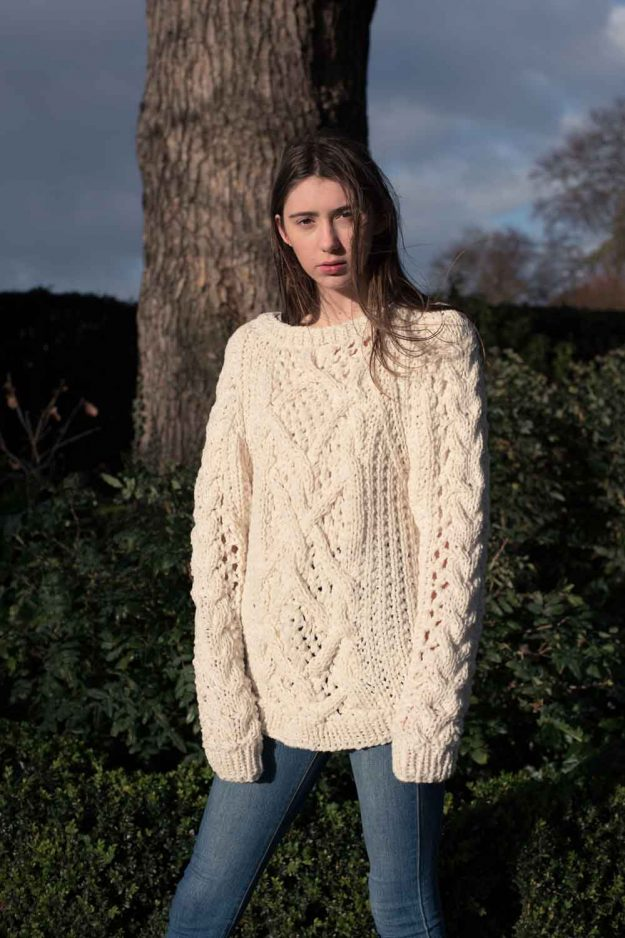 Hand Knit Chunky Cable Jumper