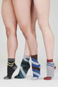 sparkly striped womens socks