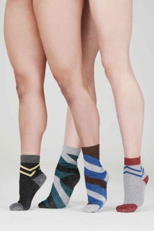 sparkly striped womens socks