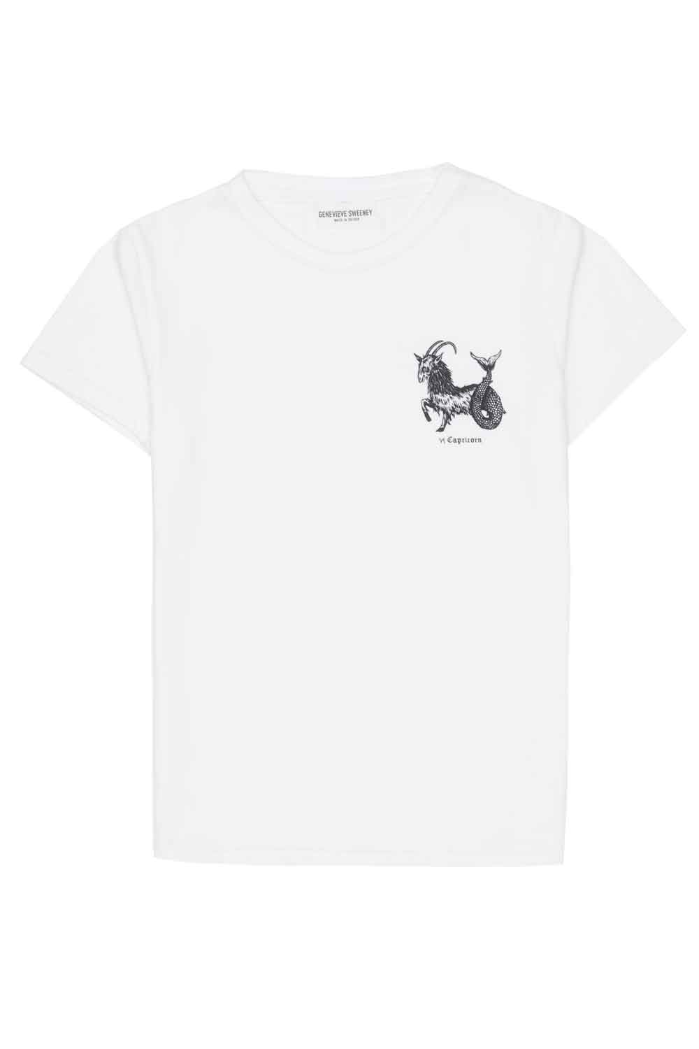 Adults Zodiac Tshirt Made in Britain Capricorn