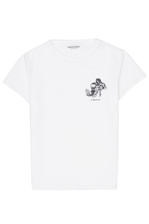 Adults Zodiac Tshirt Made in Britain Aquarius