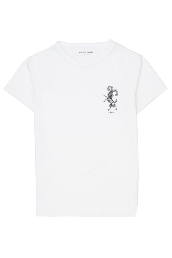 Adults Zodiac Tshirt Made in Britain Aries