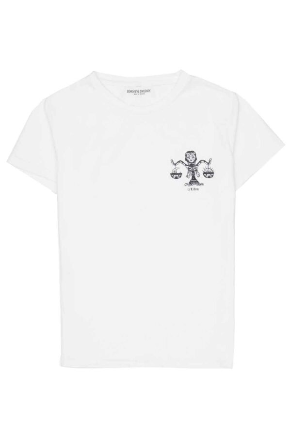 Adults Zodiac Tshirt Made in Britain Libra