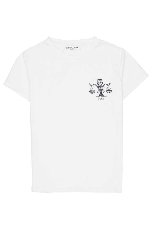 Adults Zodiac Tshirt Made in Britain Libra