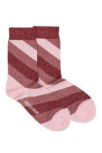 sparkly pink striped socks