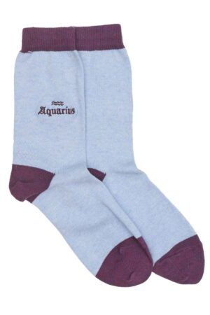Genevieve Sweeney Zodiac Sky Blue Sock Aquarius