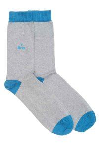 Zodiac Grey Cotton Socks Made in Britain Aries