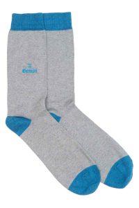 Zodiac Grey Cotton Socks Made in Britain Gemini