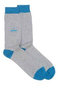 Zodiac Grey Cotton Socks Made in Britain Scorpio