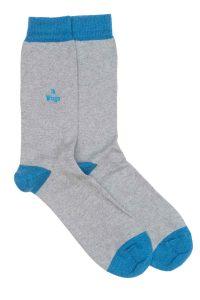 Zodiac Grey Cotton Socks Made in Britain Virgo