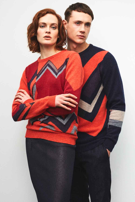Hand Intarsia Slow Fashion knitwear