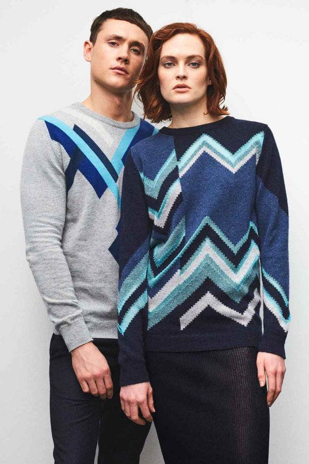 Hand Intarsia Mens and Womens Jumper