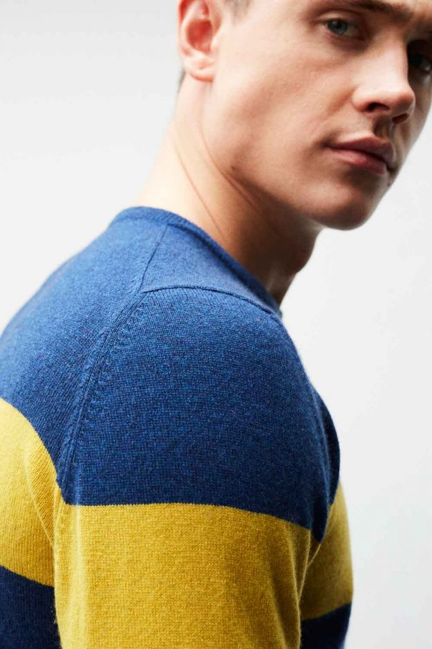 mens cashmere stripe sweater