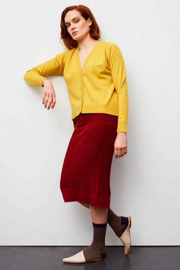 Spring Summer Yellow Bright Lurex Cardigan