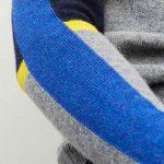 Hand Intarsia Stripe Sleeve Lambswool Jumper