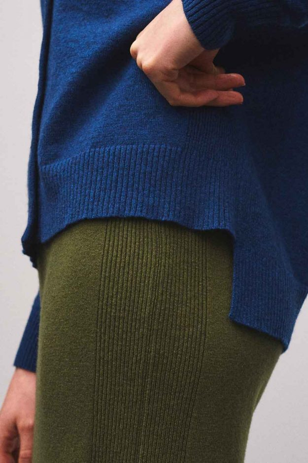 Refined details cashmere cardigan womens
