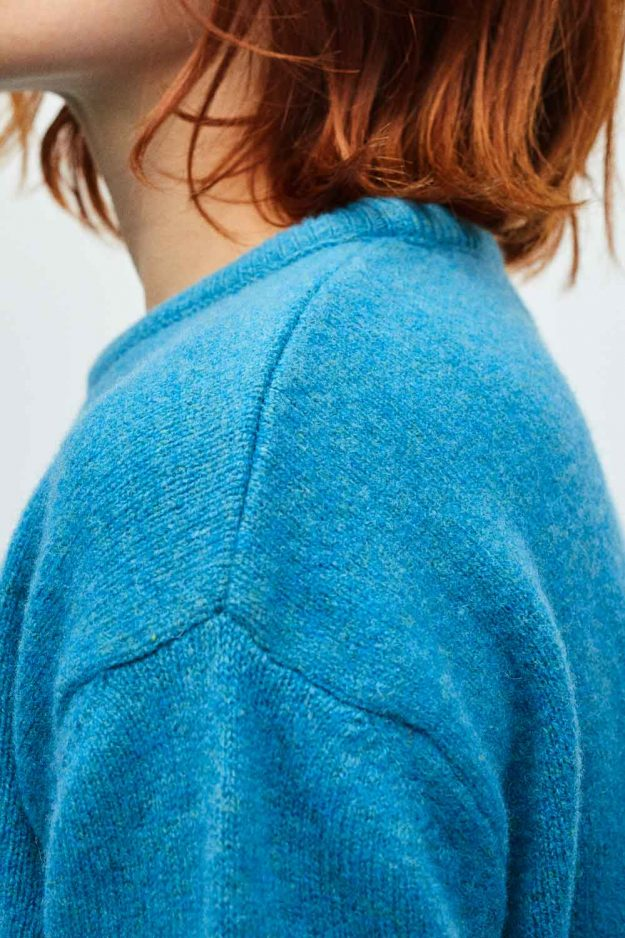Bright lambswool colourful womens knitwear