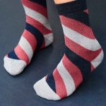 sparkly stripe socks gs sock subscription