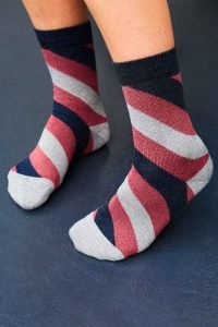 sparkly stripe socks gs sock subscription