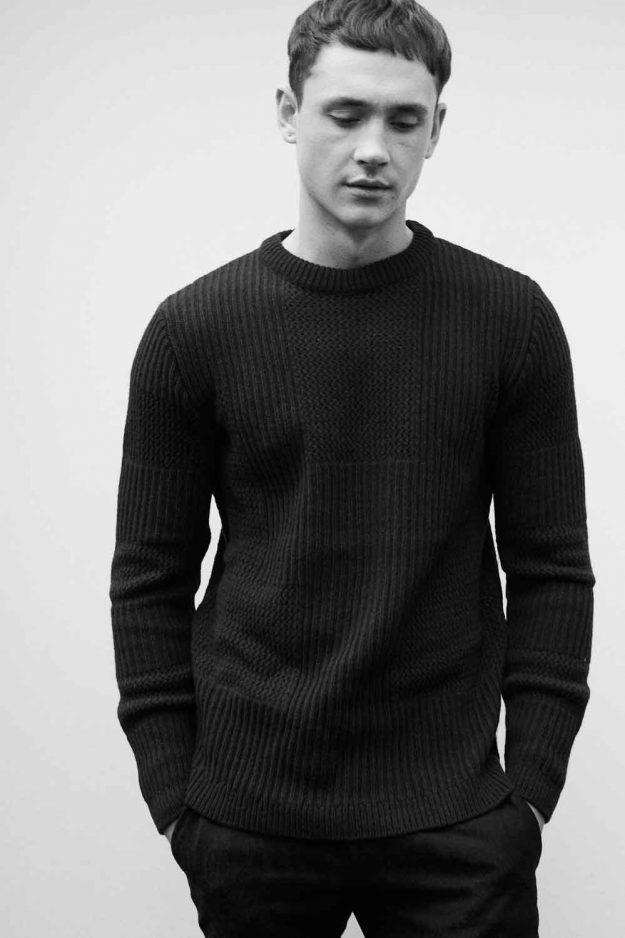 mens navy sartorial sweater