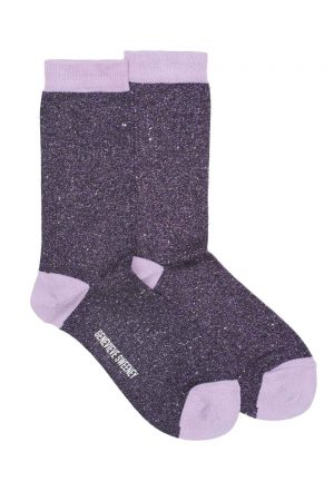 Purple Lilac womens sparkly socks
